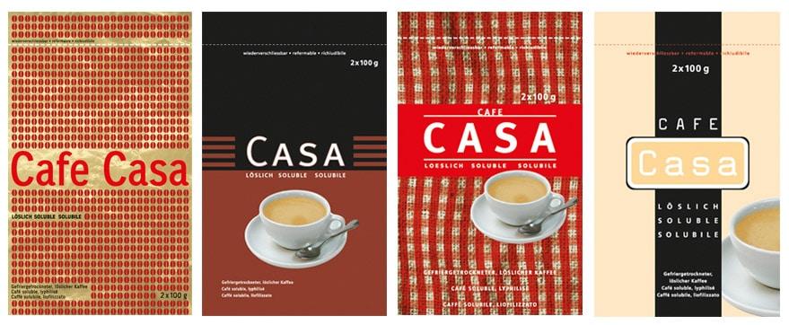 coop cafe casa Verpackungen Entwurf