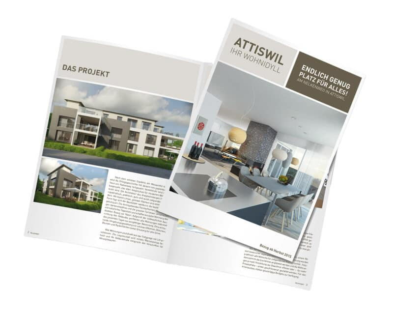 Homegate Immobilien Broschuere Attiswil