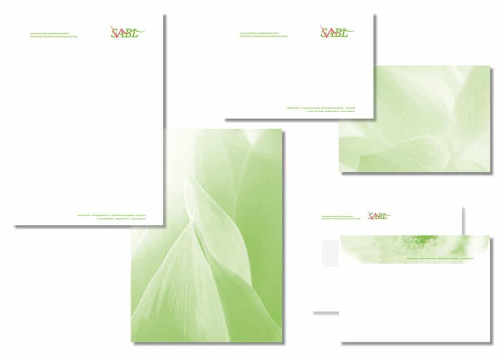 SABL Geschäftsdrucksachen-Briefpapier-Couvert-Visitenkarte