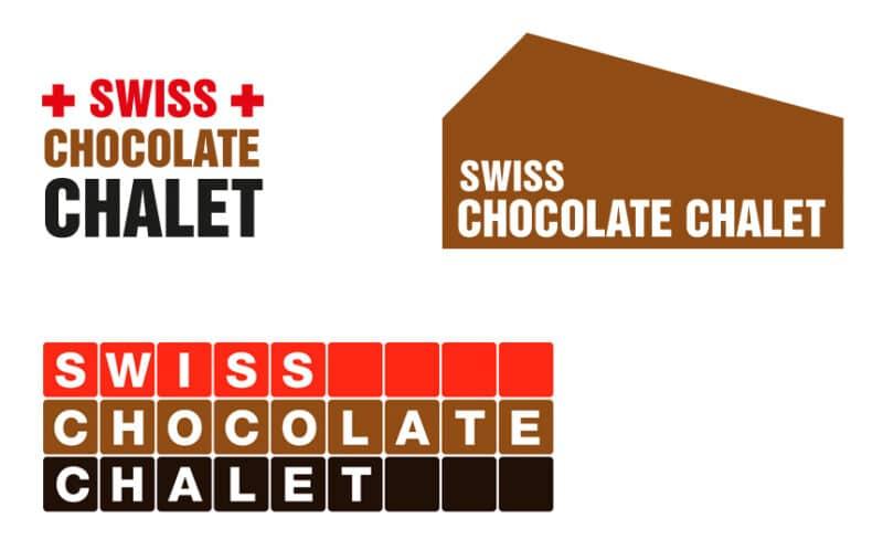 swiss chocolate chalet Logo Studien