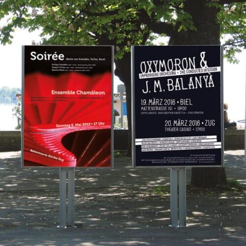 die grafikerin Konzert Plakate