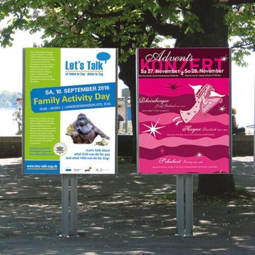 lets talk Veranstaltung, Advents-Konzert Plakat