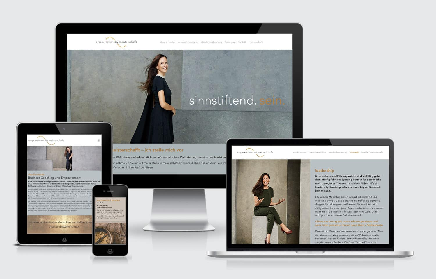 Webdesign responsive Empowerment by Claudia Meister