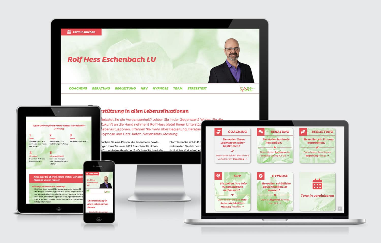 Webdesign responsive Rolf Hess SABL GmbH