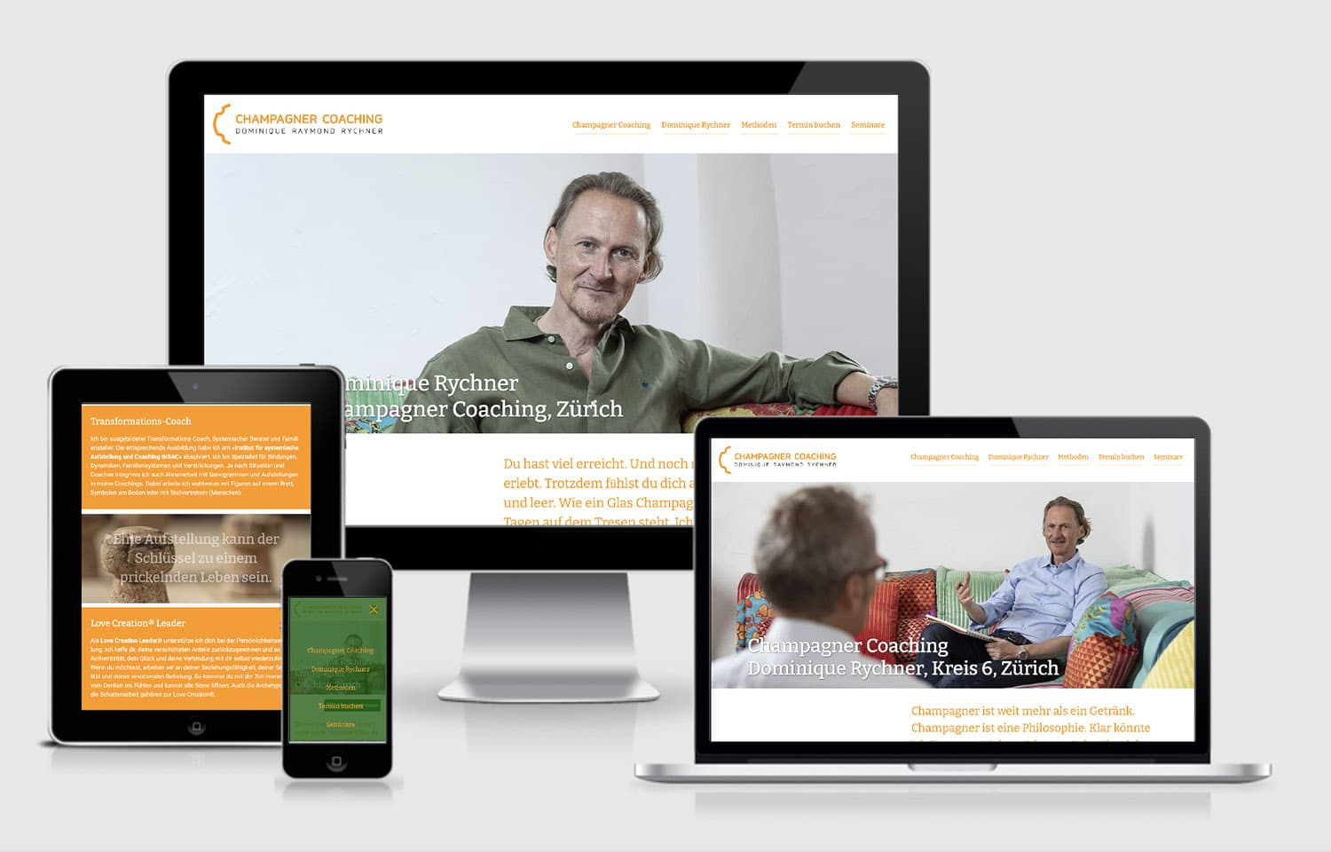 Website Champagner Coaching