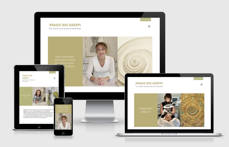 Website Gestaltung für Praxis Iris Gräppi
